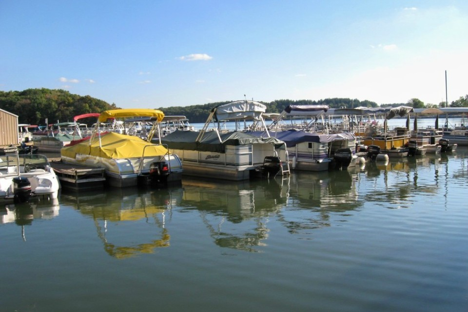 Boats at Thousand Hills State Park